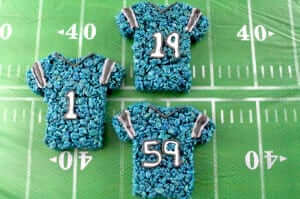 Two Sisters Crafting - Carolina Panthers Rice Krispies Treats