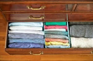 shirts, fold, decluttering, shoe box