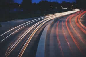 Traveling Night Road Trip