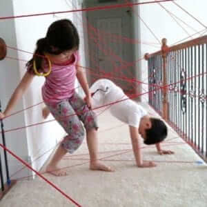 kids laser beam obstacle course